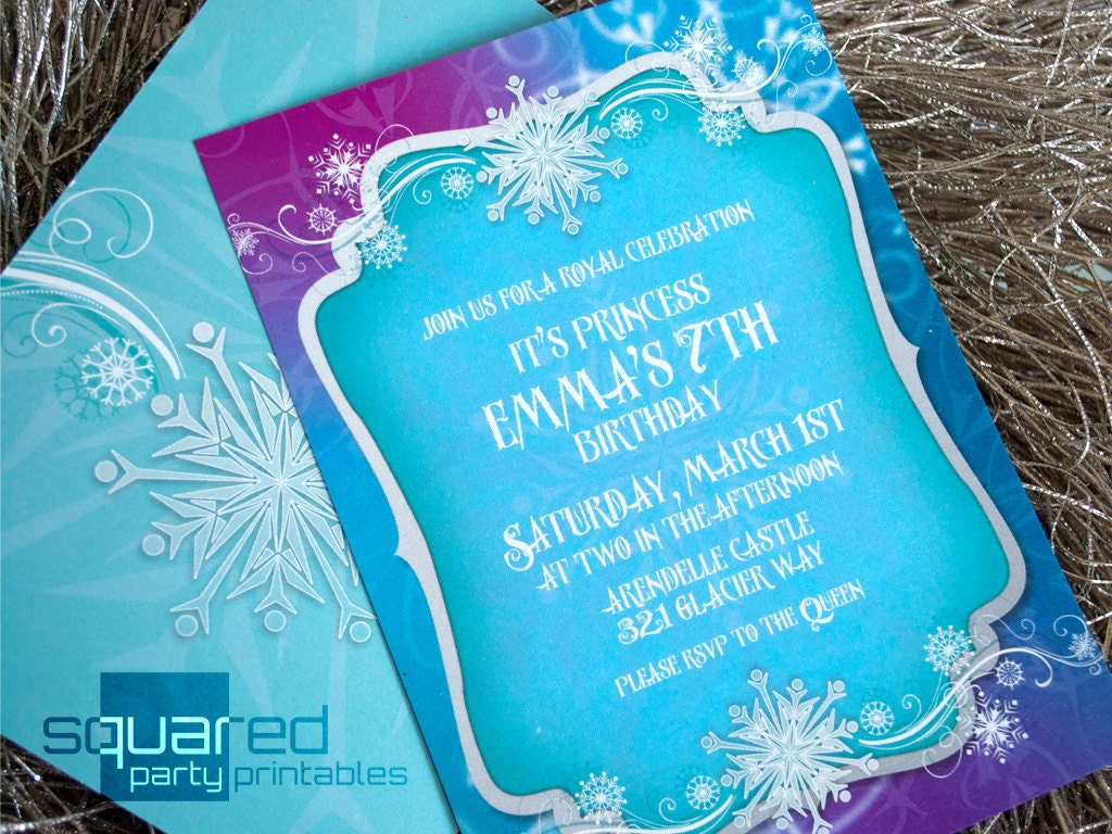 Frozen Birthday Invite was awesome invitation example