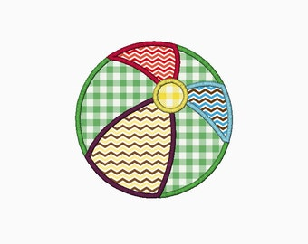 Beach ball applique design.  Comes in multiple sizes.  INSTANT DOWNLOAD