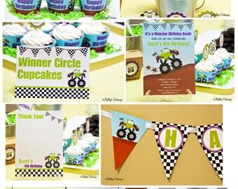 Monster Truck Birthday Party Mini Package...Custom, Printable DIY Package