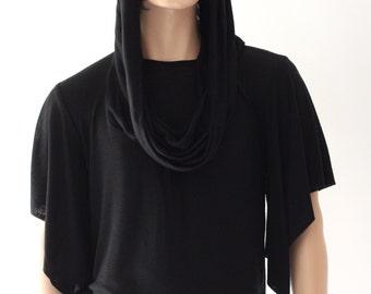 Black Merino Wool T-shirt