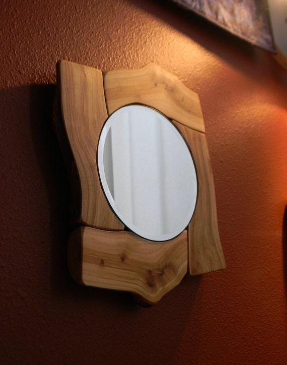 Aspen log mirror
