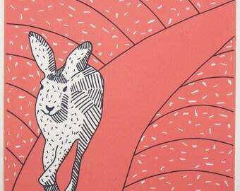 Coral Hare original art screen print