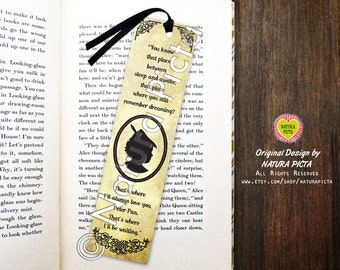Peter Pan Bookmark-Peter Pan bookmark-Time between sleep and awake bookmark-Quote bookmark-Custom Bookmark-Design by Natura Picta BKMK002