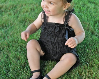 Black Baby Shoes - Bling Baby Shoe - Soft Baby Shoes - Baby Crib Shoes