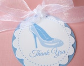 Cinderella Favor Tags Princess Glass Slipper