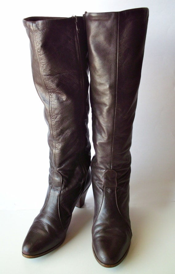 goloboots brown knee high boots size 9 narrow