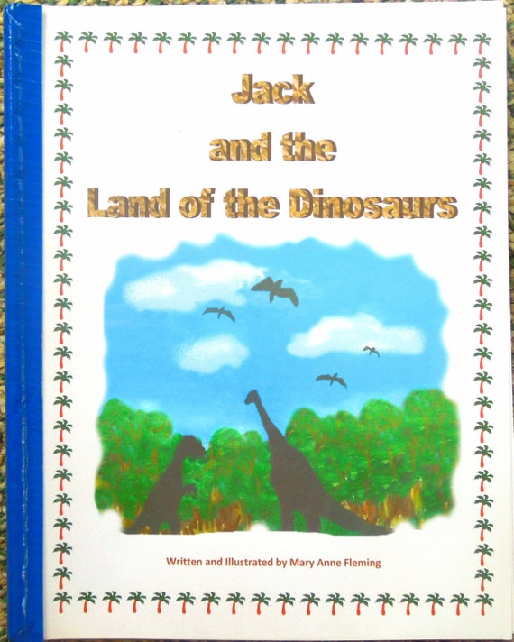 """Personalized / Photo Dinosaur Storybook  .....""""The Land of the Dinosaurs"""""""