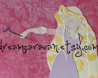 RAPUNZEL - TANGLED Painter Artist Princess Paper Custom Art