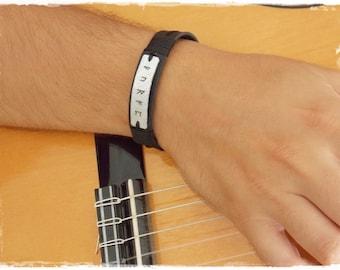Runic Bracelet, Viking Leather Bracelet, Men's Leather Bracelet, Celtic Leather Bracelet, Wiccan Bracelet, Runic Cuff, Elven Bracelet Cuff