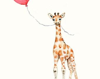 Giraffe Illustration Etsy