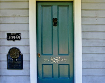 Number Decals - House Number Vinyl Lettering- Small Decal - Wall Art- Home Vinyl Wall Decals