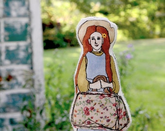 Embroidered Art Doll. Anne of Green Gables. Handmade Cloth Toy by Aly Parrott on Etsy. Made to order.