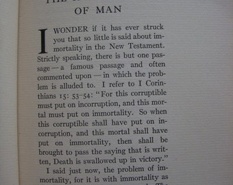 1927 The Immortality of man book by Gustav Kruger