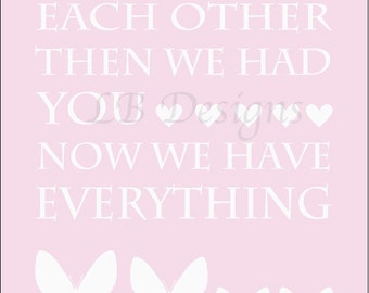 Girl Nursery Decor, Pink Butterfly Nursery Decor, Twin Nursery Decor, Lucy Butterfly Decor, Pink Butterfly Art, Girl Bedroom Decor - 8x1