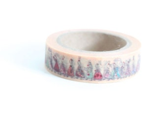 Washi Tape Rabbit Tea Party Victorian Fancy Bunny Bunnies WashiTape Japanese Rice Paper Tape
