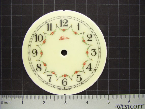 Steampunk supplies flower porcelain clock by for Clock mechanisms for craft projects