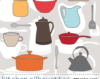 Hero Arts Kitchen Silhouettes Digital Kit DK017  Instant download