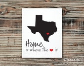Home Is Where The Heart Is, Valentine's Day Gift - Custom Print by MJDandSupply