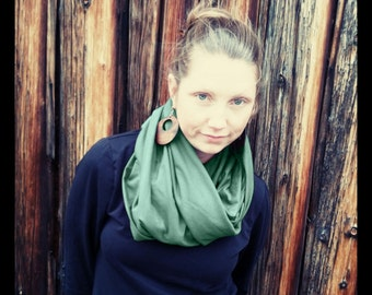 Extra-Wide Organic Circle/Infinity Scarf, Choose Your Color