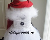 Frosty snowman tutu dress with top hat