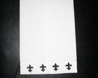 Personalized Fleur de Lis Tea Towel