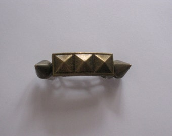 Bronze Metal Studded Spike French Barrette, for parties, special occasions