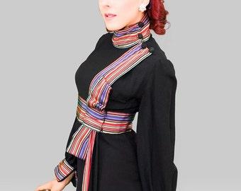 Vintage 1960s Dress / 60s Dress / Vintage 60s Mini Dress / 1960s Micro Mini Dress / 1960s Present Dress / 1960s Bow Dress
