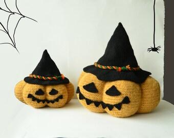 Jack O Lantern Crochet Pattern, Halloween Pumpkin Crochet Pattern, Crochet Jack O Lantern Pattern, Crochet Halloween Pumpkin Pattern
