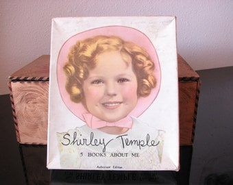Shirley Temple Five Books About Me with Original Box Number 1730