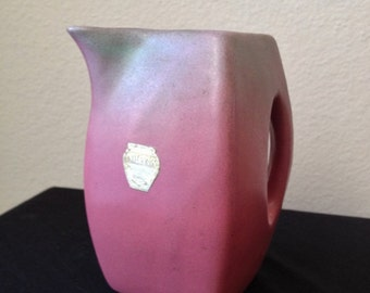 Niloak Ozark Dawn Pink and Green Small Pottery Pitcher
