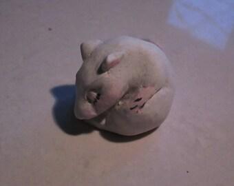 netsuke,Mouse, sleeping baby...Notsuke...copy of an antique...so not-netsuke...hahaha Sasha Graytail