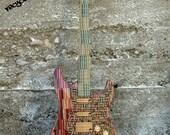 Recycled Skateboard Guitar, Skate Guitar, Made in Canada, Skate Art, Custom Guitar