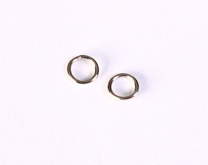 5mm silver tone jumpring - round jump rings - open jump rings - nickel free lead free (1403) - Flat rate shipping