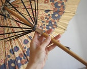 Vintage floral UMBRELLA. 20s parasol. AS IS