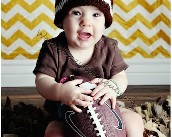 Baby Football Winter Hat NFL College - Pick Favorite Team Colors - Newborn Beanie Halloween  Costume Outfit