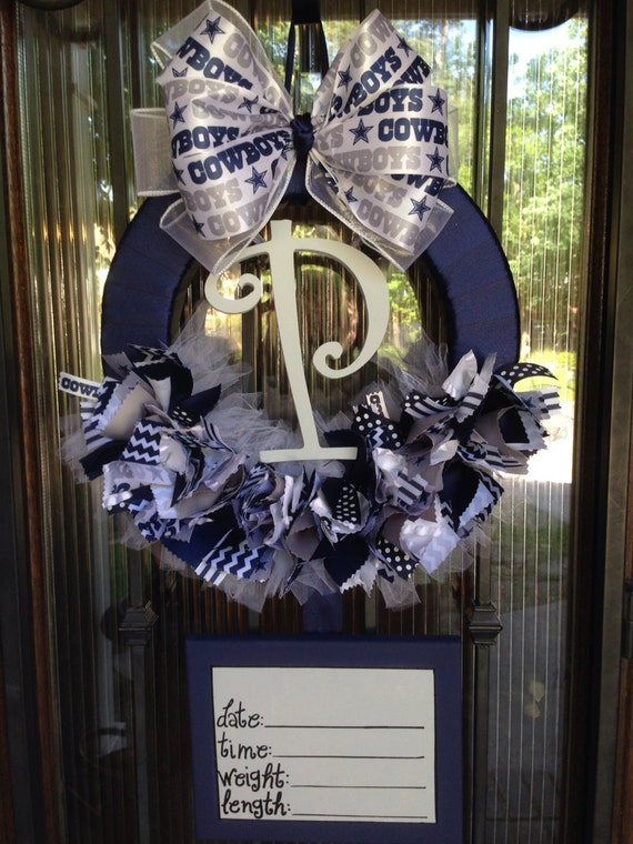 items similar to baby wreath dallas cowboys nfl baby shower on etsy