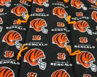 Cincinnati Bengals Game Day Quilt.