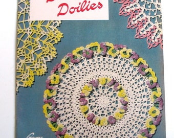 Vintage Crochet Pattern Brochure, American Thread Company, Doilies, Star Doily Book no. 87, 1951
