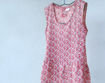 TOP - sleeveless  shirt in original LIBERTY of London - red Betsy Ann