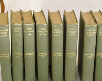 American Statesmen Circa 1880-1910 Mixed Lot 13 Books Some of these are Drivers to the set