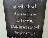 """Big 20"""" x 30"""" Handpainted Plywood Sign John Muir Quote Kitchen Rustic Farmhouse Vintage Inspired Shabby Chic"""