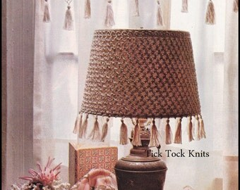 No.234 PDF Vintage Crochet Pattern - Crocheted Valance & Lampshade Cover - Retro Crochet Pattern - Instant Download