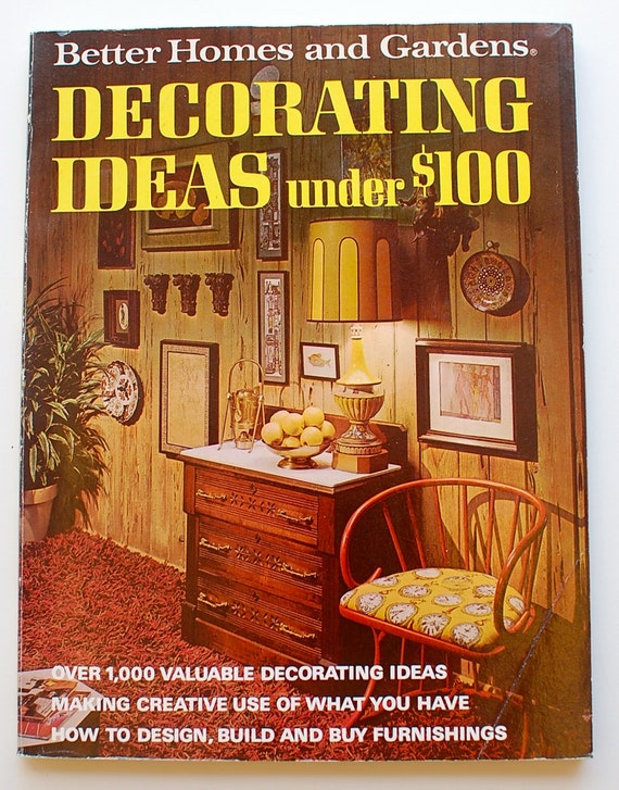 better homes and gardens decorating ideas under 100 dollars 1971 vintage midcentury interior design book from thingummery on etsy studio - Better Homes And Gardens Interior Designer