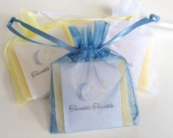 Stars + Moon Soap Favors For Baby Shower With Organza Bags 100% Natural Cold Processed