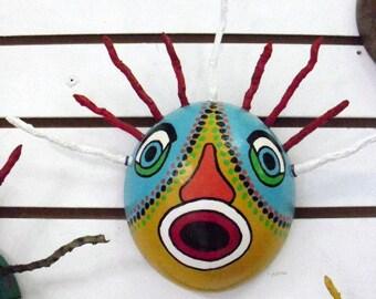 Afro Caribbean Mask- vijigante- Carnival Mask Primitive Mask- cultural Mask- hand Painted mask