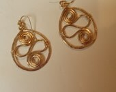 14K Gold Filled Hoop Earrings With Squiggle