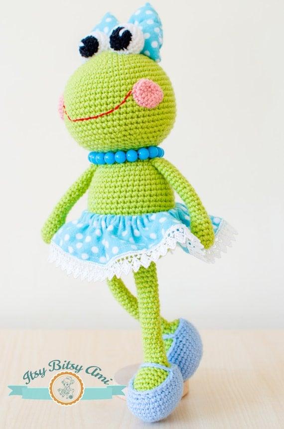 Kawaii Frog Amigurumi : Sara The Frog Amigurumi PDF Pattern
