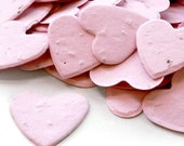 350 Plantable Pink Wedding Heart Shaped Seed Paper Confetti -  Grows into Wildflowers