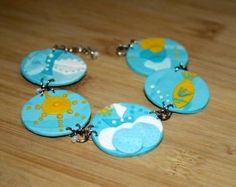 Summer - Polymer Clay Bracelet