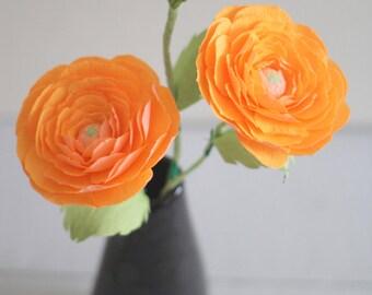 paper ranunculus ,paper flowers,crepe paper ranunculus buttercup